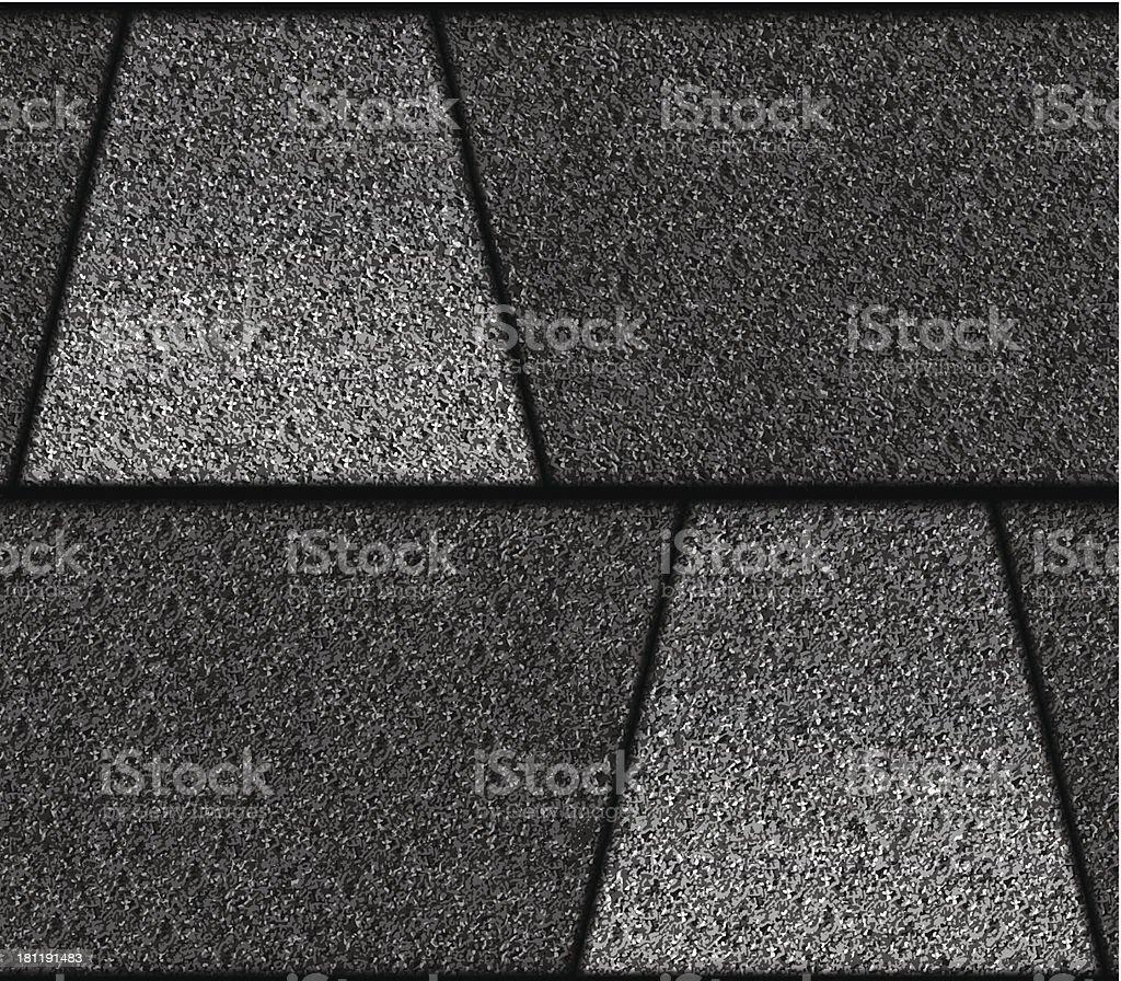 Asphalt Roof Shingle - Pattern / Tile / Seamless vector art illustration