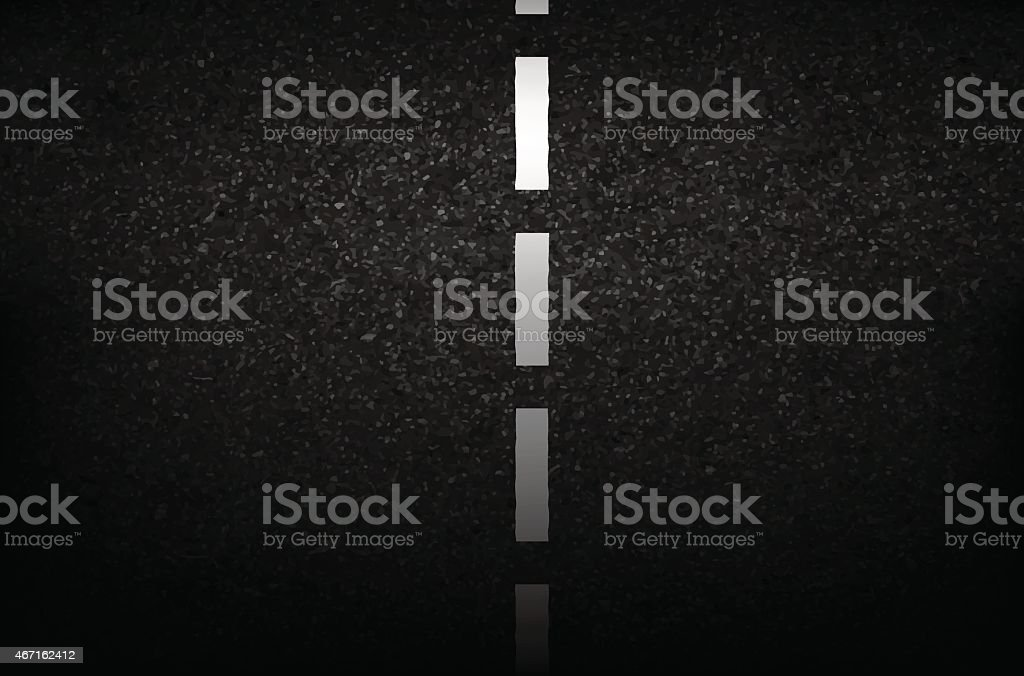 Asphalt texture with road markings background, illustration vect vector art illustration