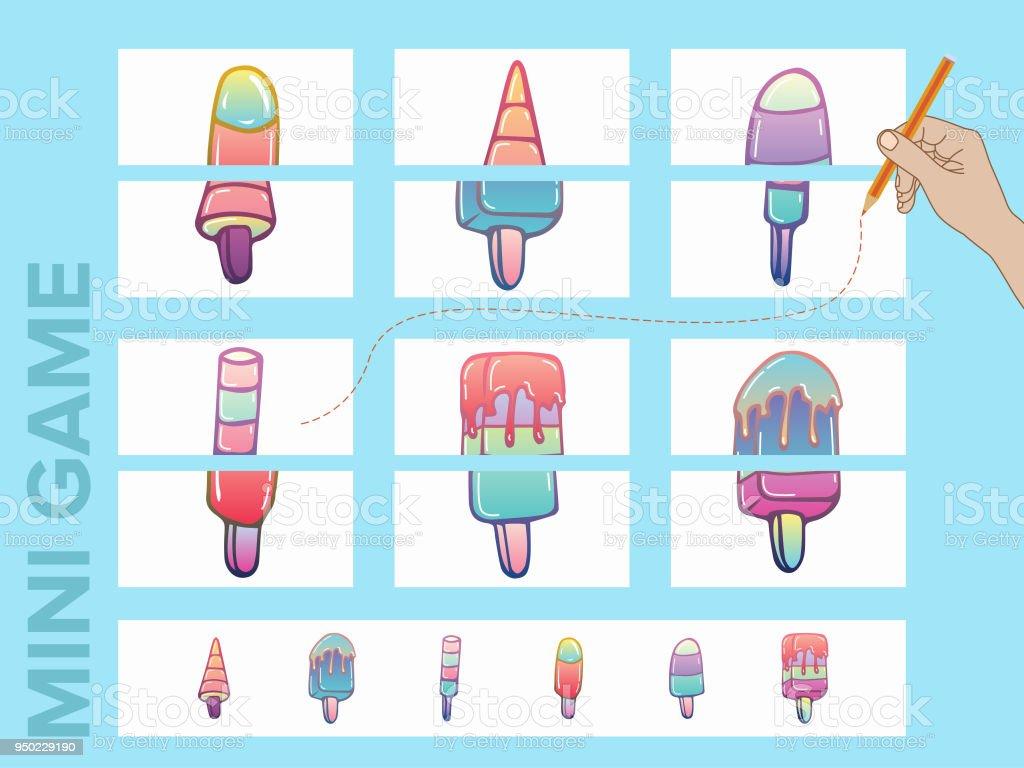 Montieren Sie Die Bilder Minispielesammlungen Eissammlungen Stock ...