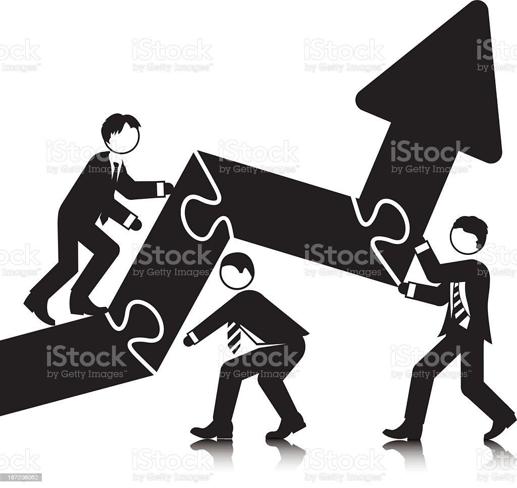 Assembling Upward Trend royalty-free assembling upward trend stock vector art & more images of achievement