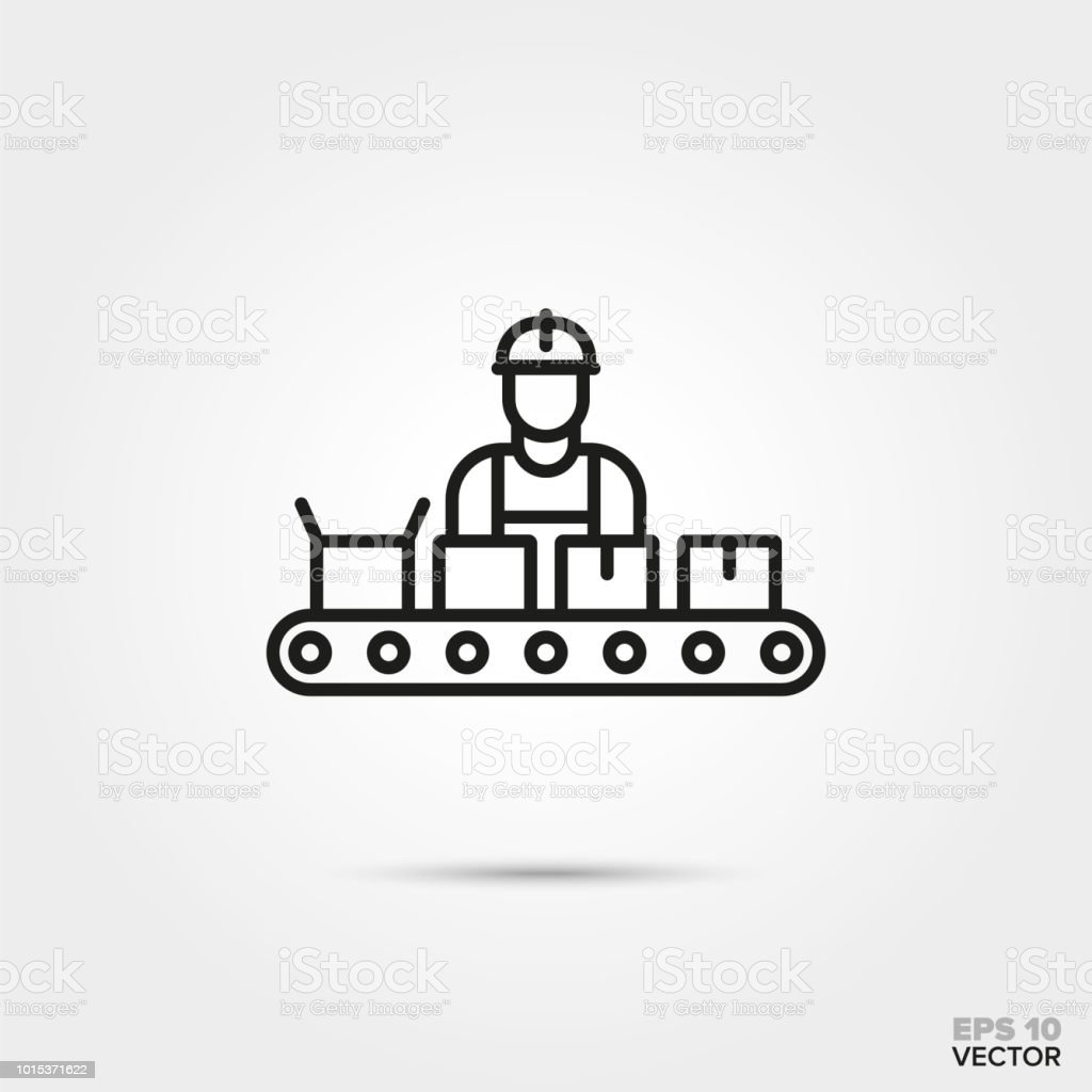 Assembly line vector icon. vector art illustration