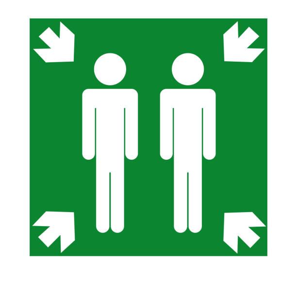 Assembly Point Symbol, Vector Illustration, Isolate On White Background Icon. EPS10 vector art illustration