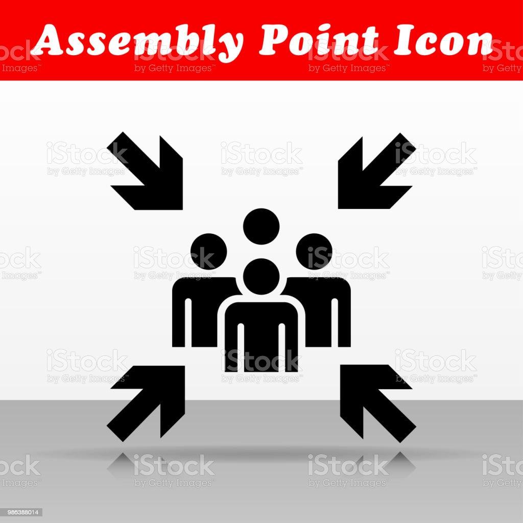 Versammlung Punkt Vektor Icon-design – Vektorgrafik