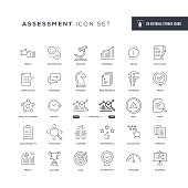29 Assessment Icons - Editable Stroke - Easy to edit and customize - You can easily customize the stroke width