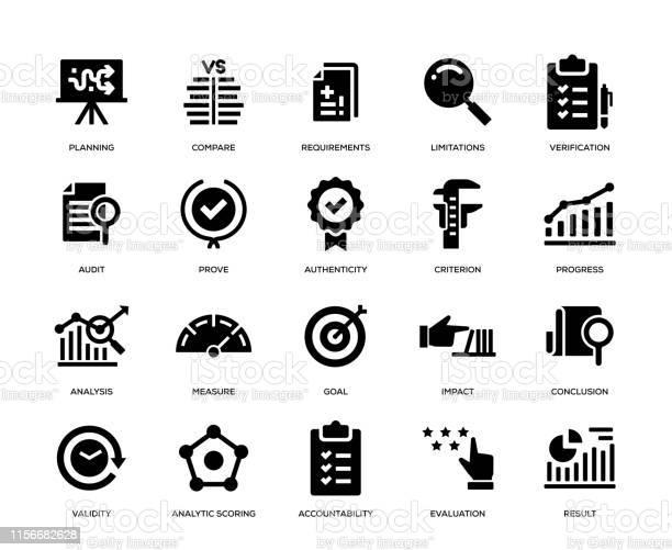 Набор Значков Оценки — стоковая векторная графика и другие изображения на тему Анализировать