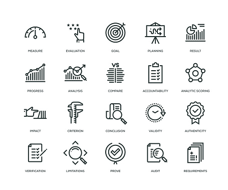Assessment Icons - Line Series clipart