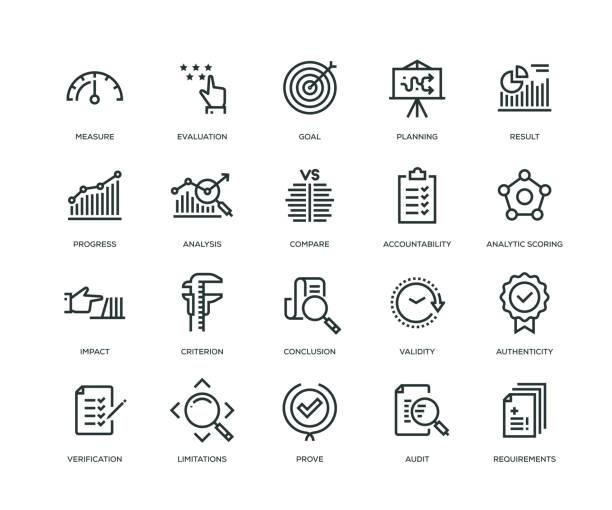評估圖示-生產線系列 - 商務 幅插畫檔、美工圖案、卡通及圖標