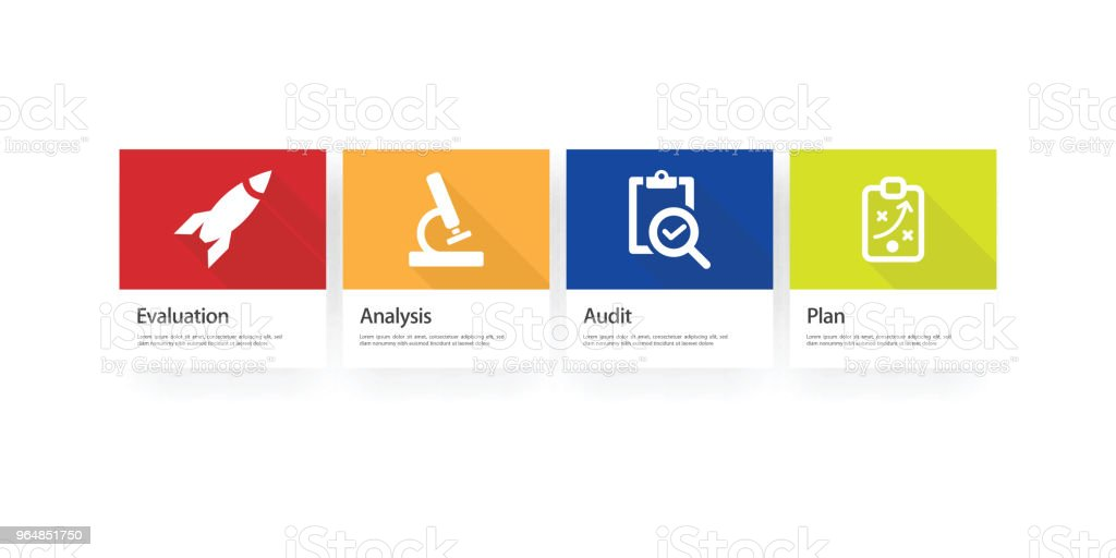 Assessment Infographic Icon Set royalty-free assessment infographic icon set stock vector art & more images of advice