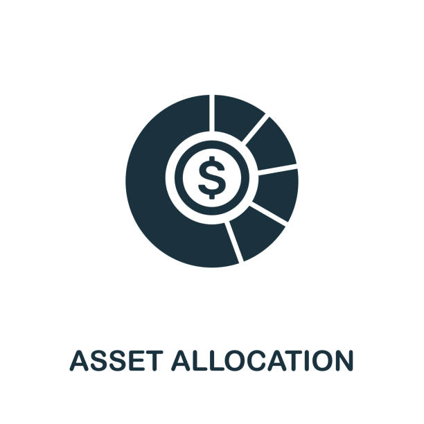 Asset Allocation vector icon symbol. Creative sign from investment icons collection. Filled flat Asset Allocation icon for computer and mobile Asset Allocation vector icon illustration. Creative sign from investment icons collection. Filled flat Asset Allocation icon for computer and mobile. Symbol, logo vector graphics. budget backgrounds stock illustrations