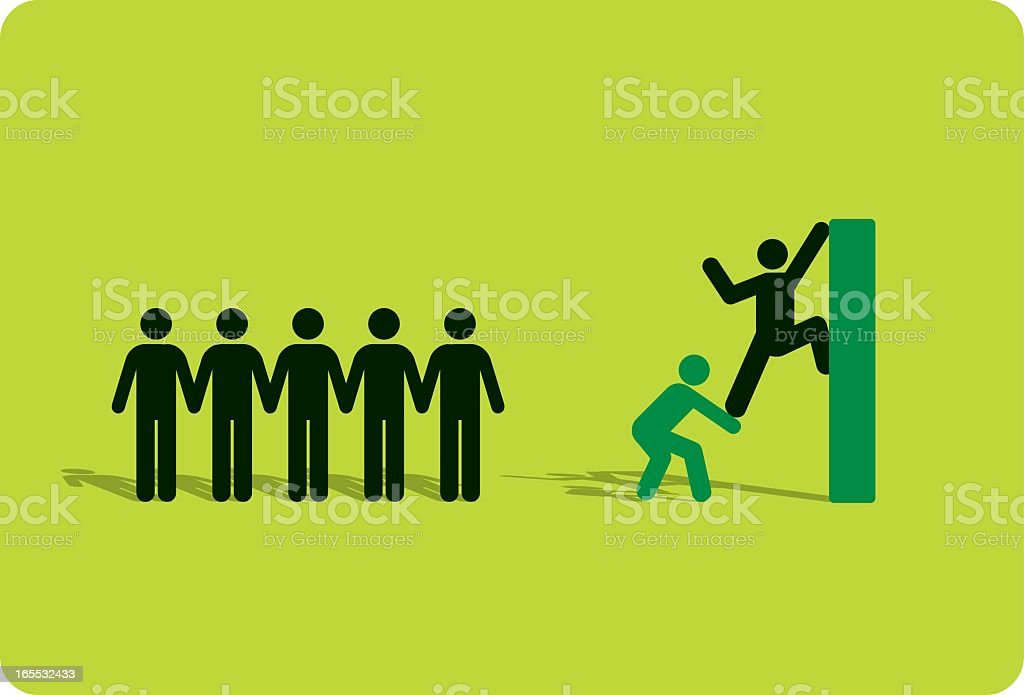 Assistance in becoming greener royalty-free stock vector art
