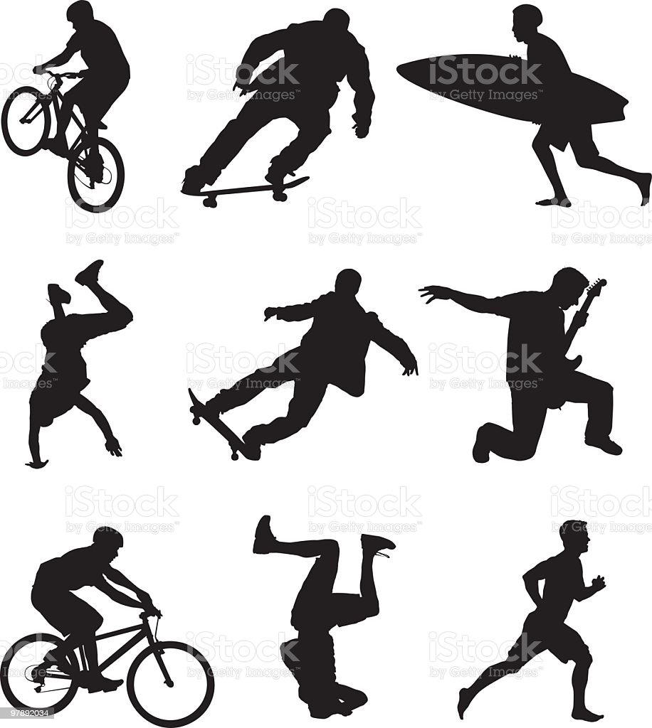 Assorted Active People royalty-free assorted active people stock vector art & more images of adult