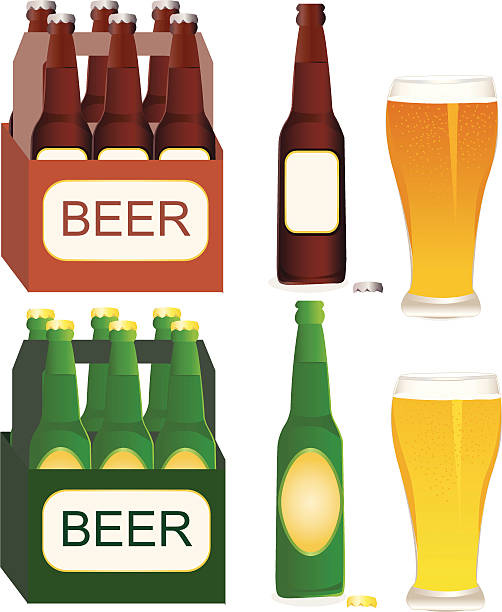 109 Six Pack Beer Illustrations Royalty Free Vector Graphics Clip Art Istock