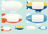 Assorted blimp airships