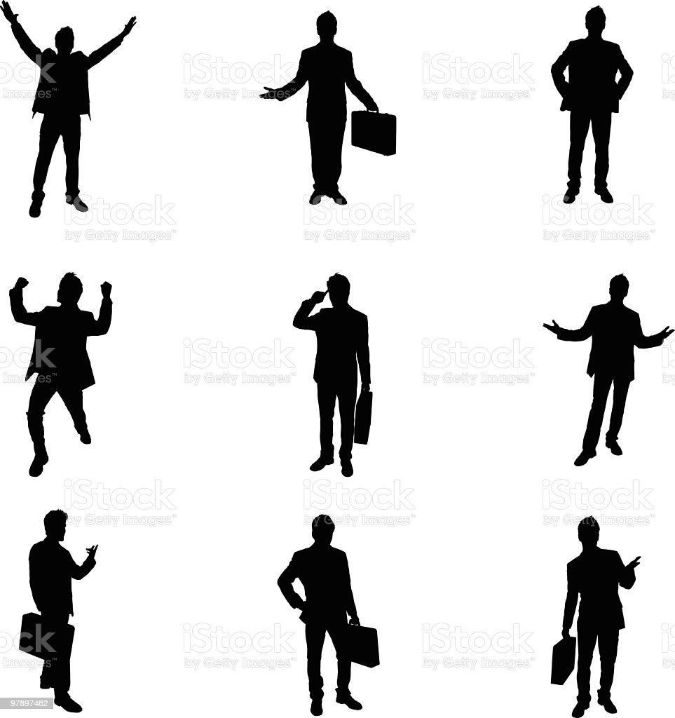 Assorted Businessmen royalty-free stock vector art