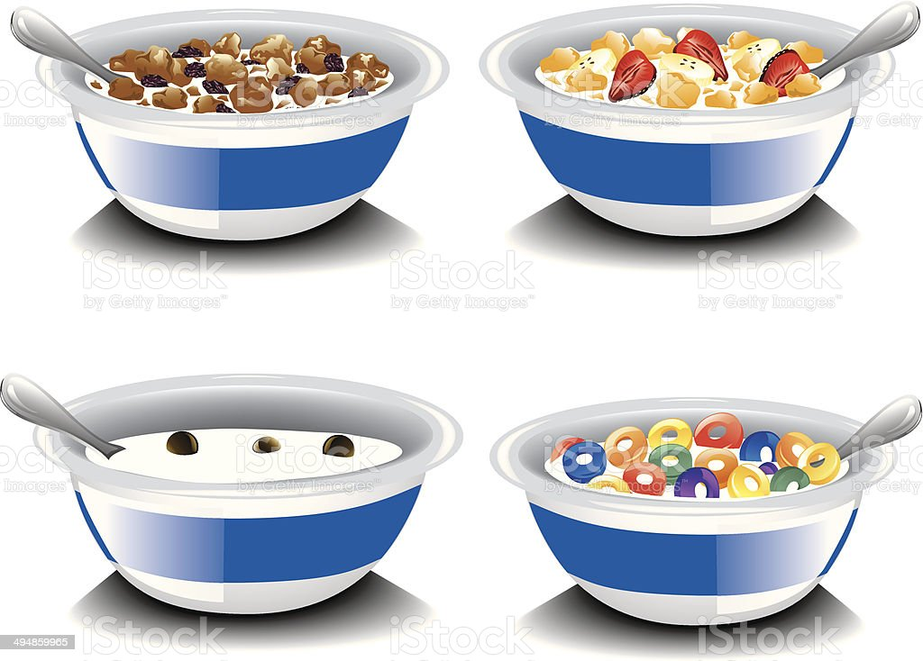 Assorted cereal vector art illustration