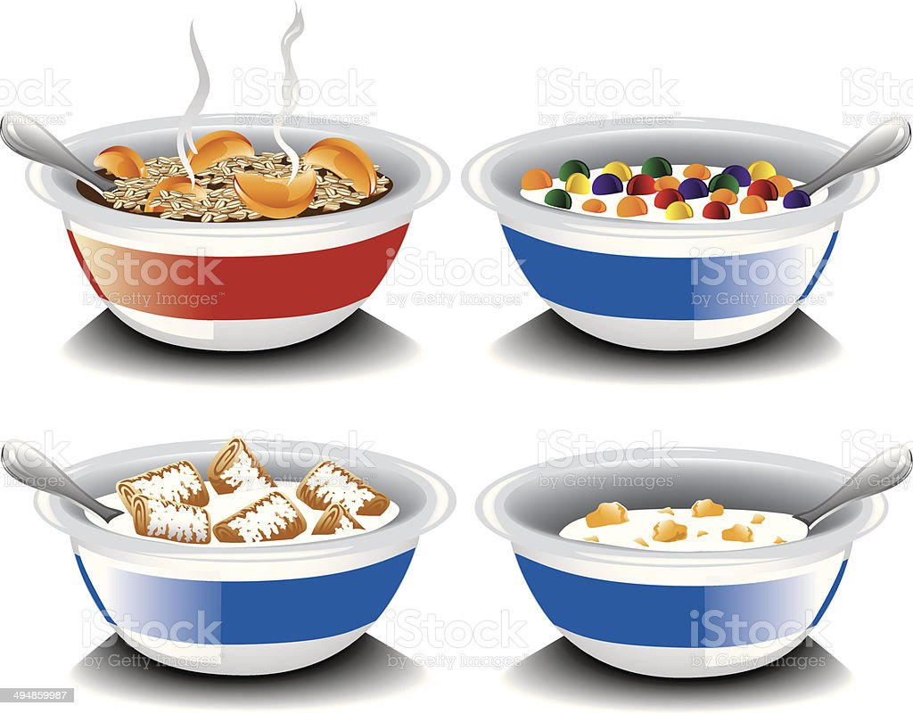 Assorted cereal royalty-free stock vector art