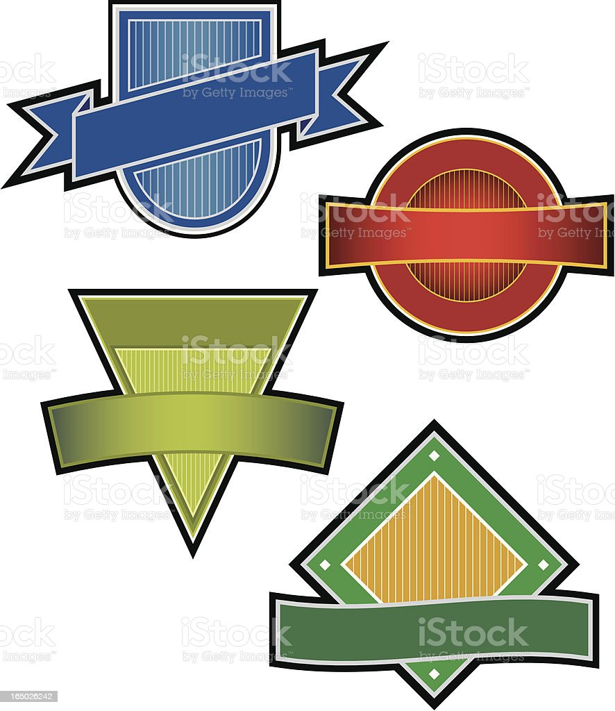 Assorted Emblems royalty-free stock vector art