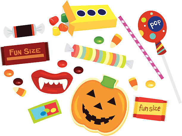 halloween-candy - gummibonbon stock-grafiken, -clipart, -cartoons und -symbole