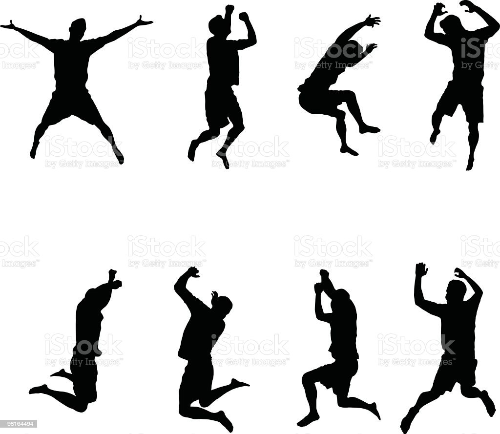 Assorted jumping men to use in your design royalty-free assorted jumping men to use in your design stock vector art & more images of 25-29 years