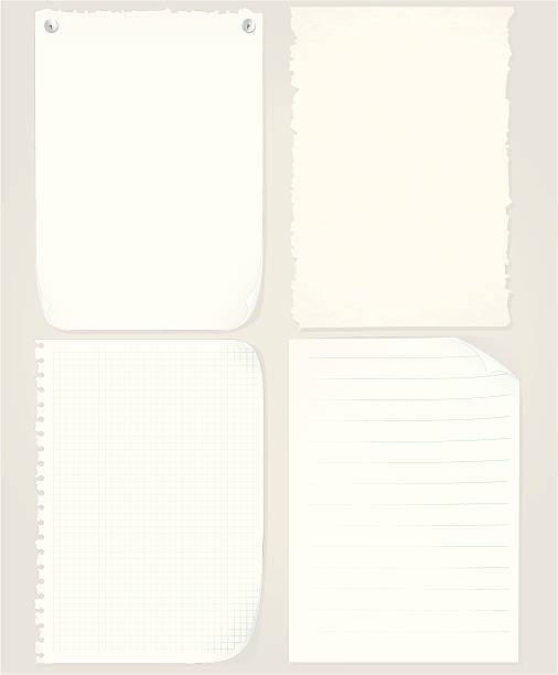 ilustraciones, imágenes clip art, dibujos animados e iconos de stock de surtido de láminas de papel - fondos arrugados