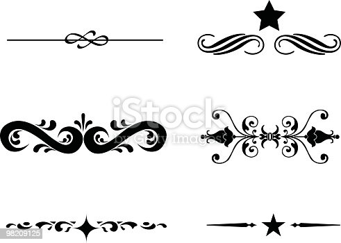 istock Assorted Scrolls to use in your design 98209125