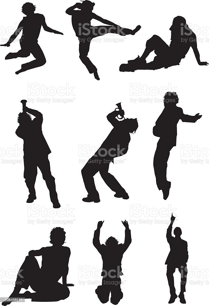 Assorted Shapes of Men royalty-free stock vector art