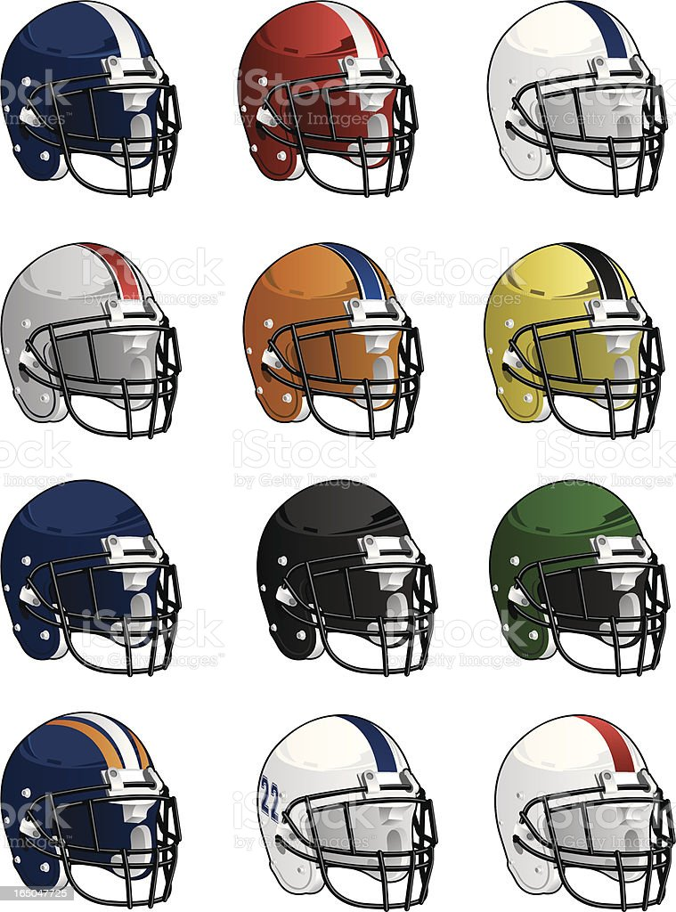 Assorted Vector Helmets royalty-free stock vector art