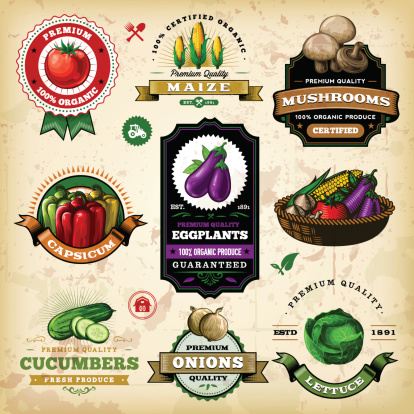 Assorted Vegetable Labels