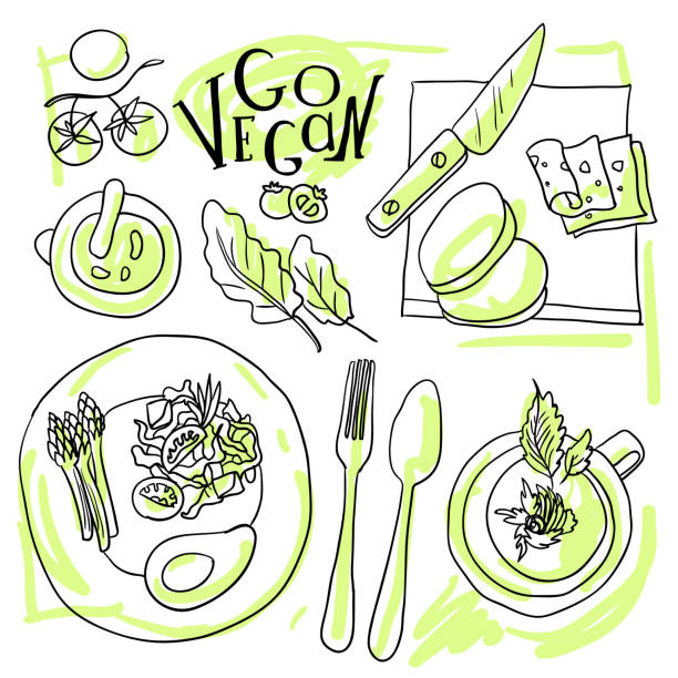 assorted vegetable vector illustration - like two peas in a pod stock illustrations, clip art, cartoons, & icons