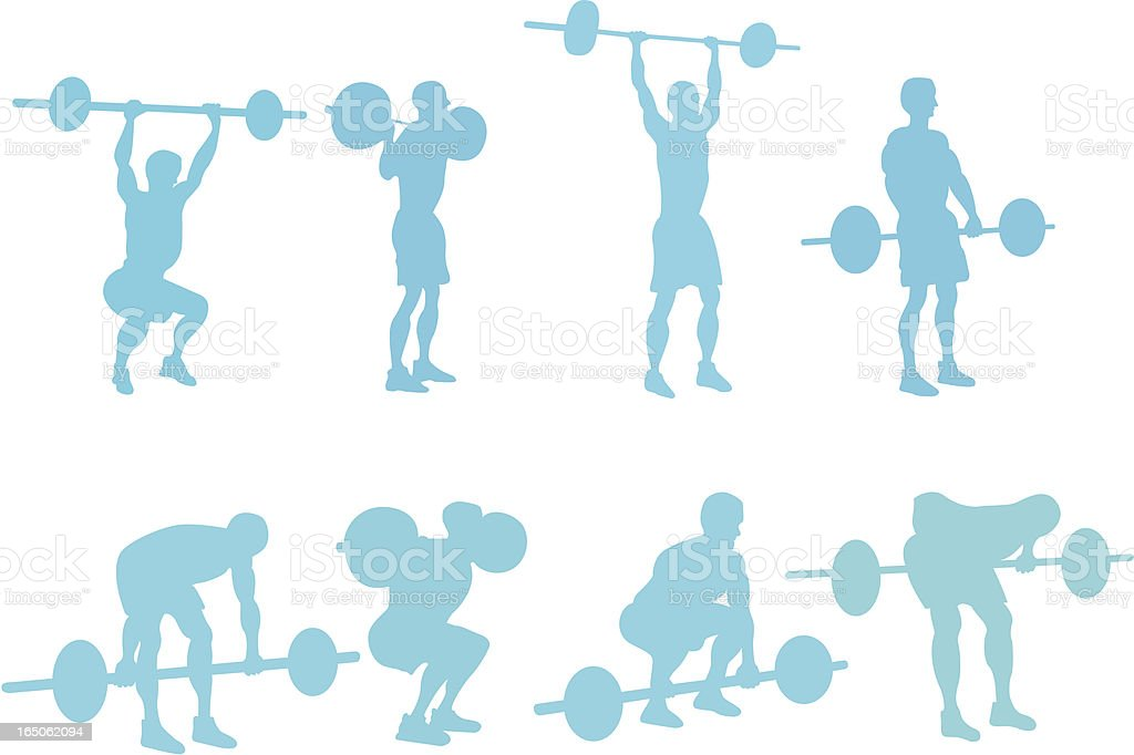 Assorted weightlifter to use in your design vector art illustration