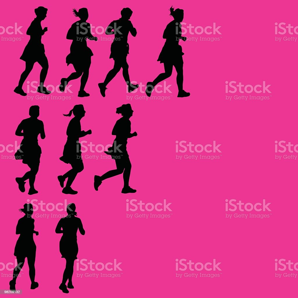 Assorted women running royalty-free assorted women running stock vector art & more images of adult