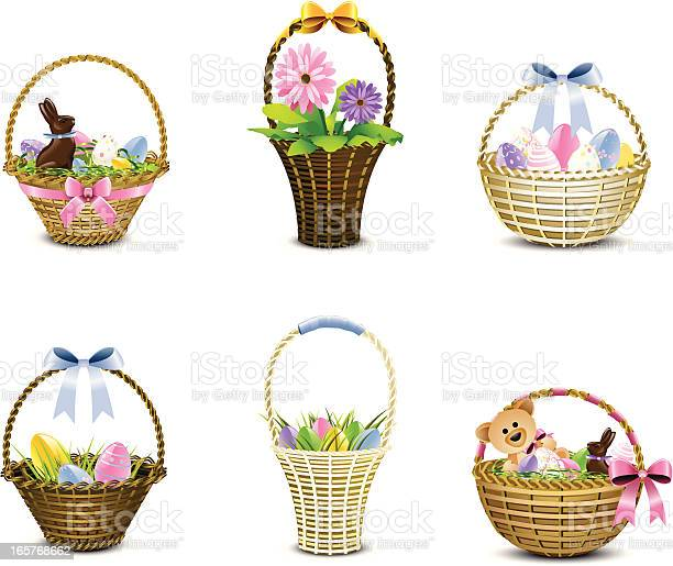Assorted woven easter baskets in various pastels vector id165768662?b=1&k=6&m=165768662&s=612x612&h=afcqc4yz327zwa44esoxwpk2lhwbg7yusclawm20odo=
