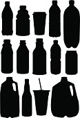 A collection of beverage silhouettes.