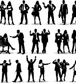 Business people Silhouette.