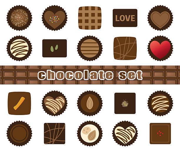 assortment of chocolate illustration - tortenriegel stock-grafiken, -clipart, -cartoons und -symbole