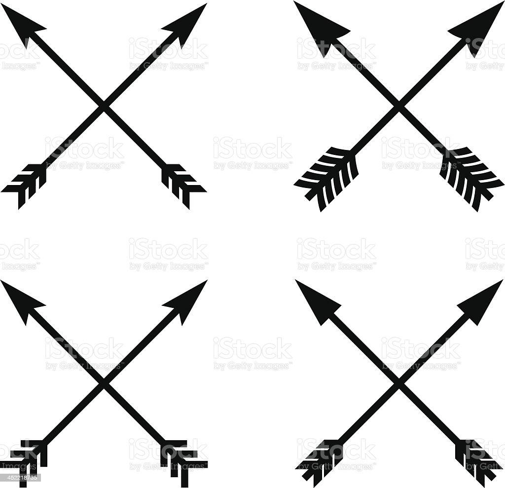 Assortment Of Crossed Arrows Stock Vector Art & More