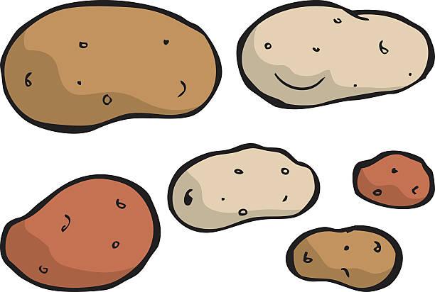kartoffelspezialitäten - kartoffeln stock-grafiken, -clipart, -cartoons und -symbole