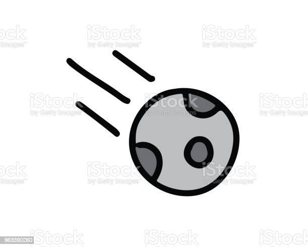 Ilustracja Przedstawiająca Ikonę Asteroidy Ręcznie Rysowany Styl - Stockowe grafiki wektorowe i więcej obrazów Astronauta