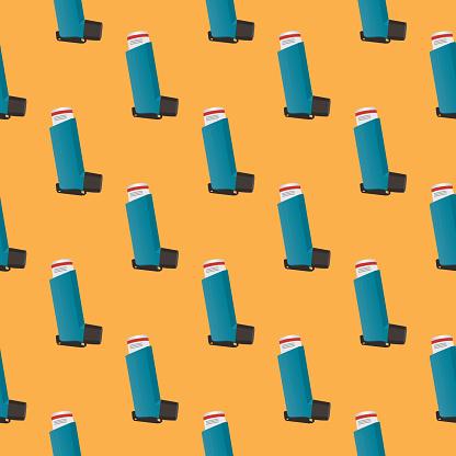 Asthma Inhaker Seamless Pattern
