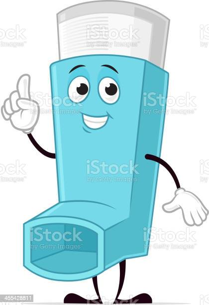 Asthma Inhaler Character Stock Illustration Download Image Now Istock