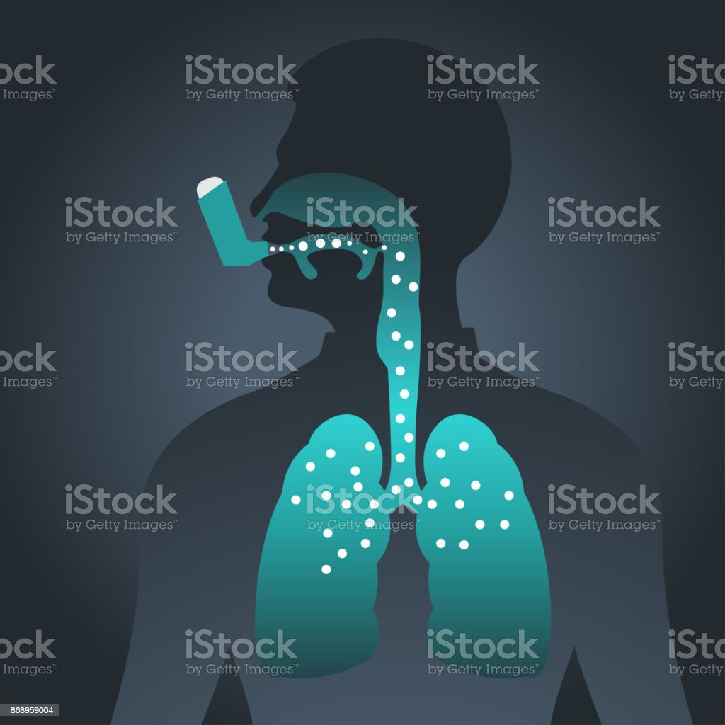 Asthma vector icon illustration vector art illustration