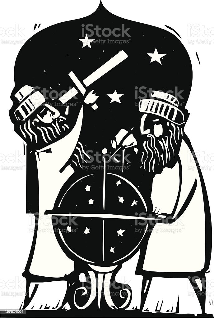Astrologers - Illustration vectorielle