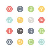 Astrological Planets Icons : Minimal Style