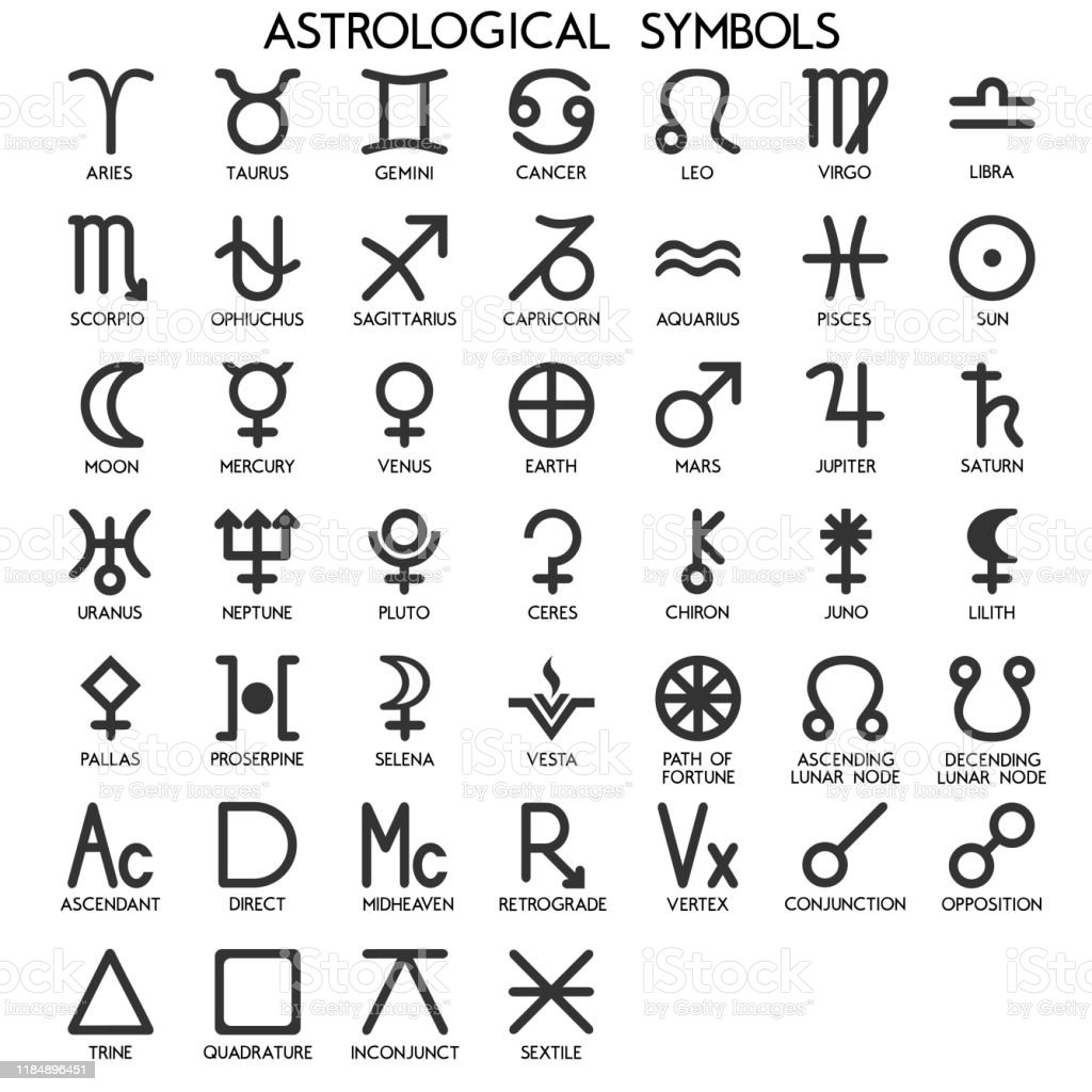 Astrological Symbols Icons For Horoscope Stock Illustration Download Image Now Istock