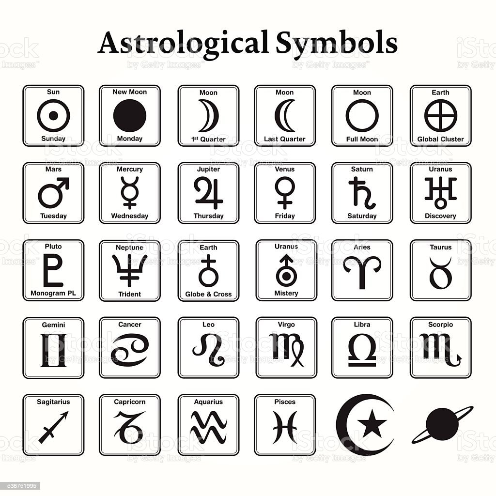 Astrological Symbols Stock Vector Art More Images Of 2015