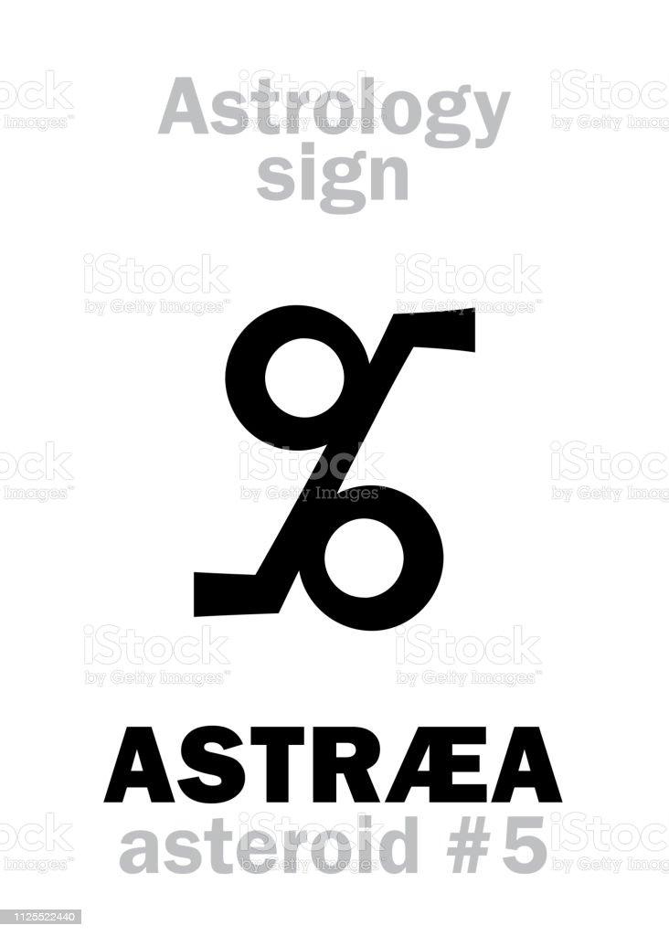 Astrology Alphabet Astræa Asteroid 5 Hieroglyphics Character