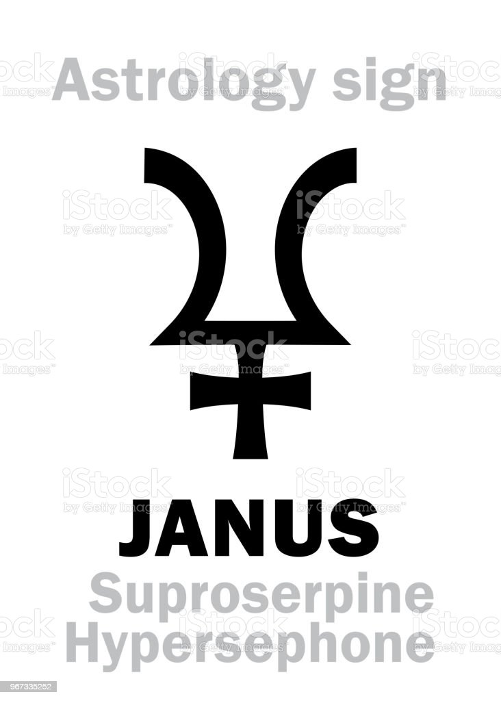 Astrology Alphabet Janus Stock Vector Art More Images Of Alphabet