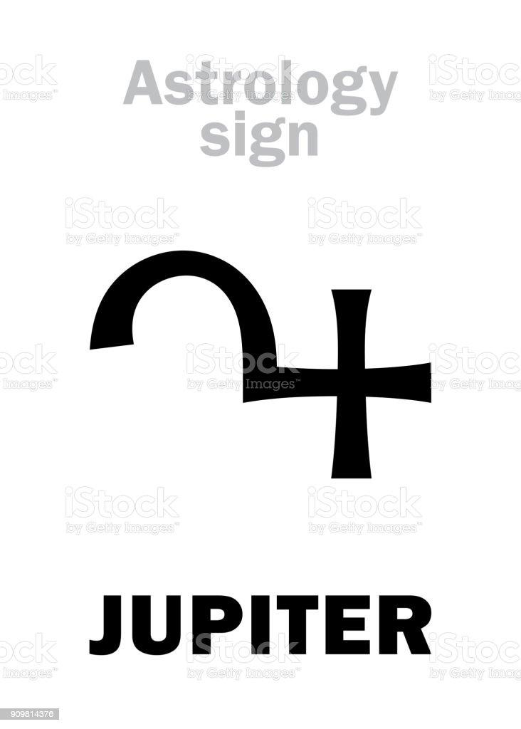 Astrology Alphabet Jupiter Classic Major Social Planet Hieroglyphics