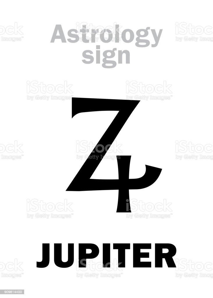 Astrology Alphabet Jupiter Stock Vector Art More Images Of