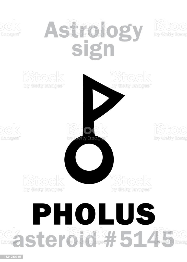 Astrology Alphabet Pholus Asteroid 5145 Hieroglyphics